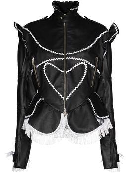 Charles Jeffrey Loverboy Orkney leather jacket CJLAW20OLB