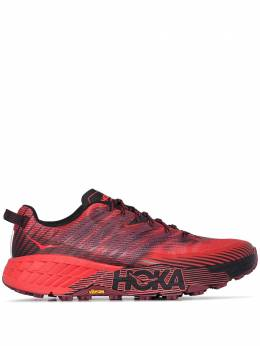 Hoka One One red Speedgoat 4 low top sneakers 1106525