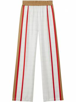 Burberry archive scarf print silk wide-leg trousers 8031068
