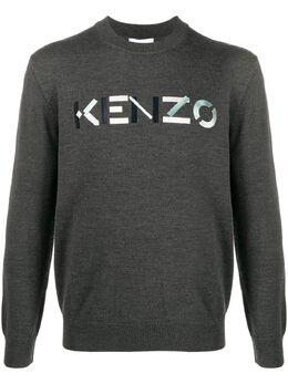Kenzo embroidered logo jumper FA65PU5413LA