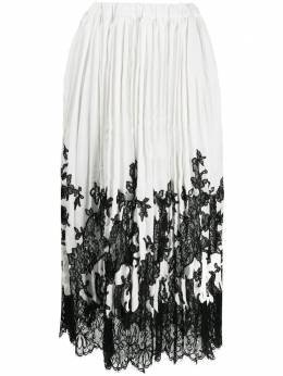 Ermanno Scervino floral-lace pleated skirt D372O328XXA