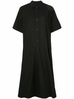 Lee Mathews расклешенное платье-рубашка миди M2002DR079