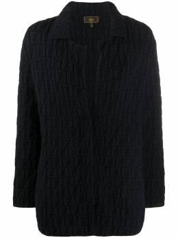 Fendi Pre-Owned трикотажная куртка 2000-х годов с узором FF FN600D