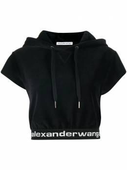 T By Alexander Wang cropped short sleeve hoodie 4CC1201106