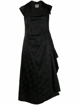 Valentino Pre-Owned платье 1990-х годов с драпировкой и принтом VNT280