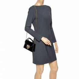 Dolce&Gabbana Black Python Small Devotion Top Handle Bag 302249