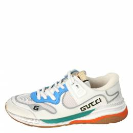 Gucci White Leather and Fabric Ultrapace Low-Top Sneakers Size 37.5 301880