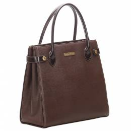 Burberry Brown/Dark Brown Leather Tote Bag 301086