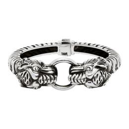 Gucci Silver Garden Tiger Bracelet 623210 J8400