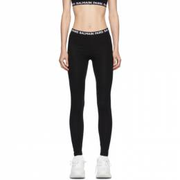Balmain Black Logo Leggings BPN095010