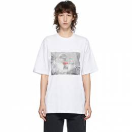 MSGM White Logo Monkey Graphic T-Shirt 2943MDM77 207648