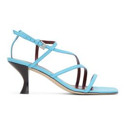 Staud Blue Nappa Gita Heeled Sandals 07-1007-BRBL