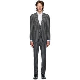 Boss by Hugo Boss Grey Striped Novan Suit 50432877