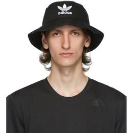 Adidas Originals Black and White Trefoil Bucket Hat BK7345