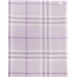 Burberry Purple Check Gauze Giant Scarf 8030511