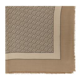Burberry Tan Cashmere Monogram Scarf 8011870