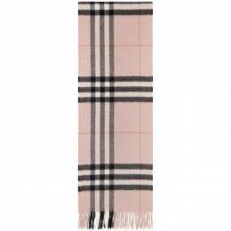 Burberry Pink Check Cashmere Giant Scarf 8015525