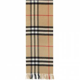 Burberry Tan Check Cashmere Giant Scarf 8015527