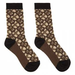 Burberry Brown Monogram Socks 8018618