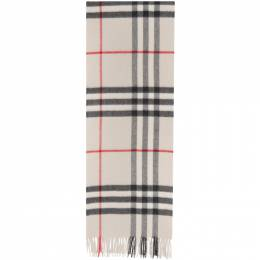 Burberry White Check Cashmere Giant Scarf 8015533