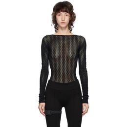 1017 Alyx 9Sm Black Knit Bodysuit AAWUN0004YA01BLK0001