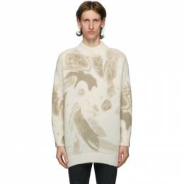 424 Off-White Mohair Oversized Crewneck Sweater 2501.735.9115