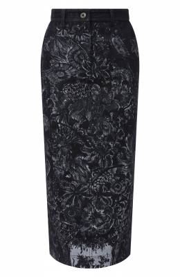 Джинсовая юбка Valentino UB3DDA006PV
