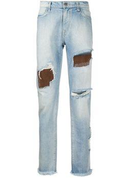 424 джинсы прямого кроя с прорезями 424C00820082