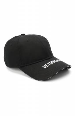Хлопковая бейсболка Vetements UAH21CA264 1000/W