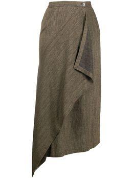 Issey Miyake Pre-Owned юбка-фартук асимметричного кроя 1980-х годов MIY309