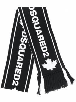 Dsquared2 жаккардовый шарф с кисточками KNM004601WJ0386