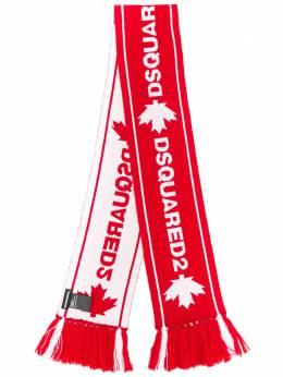 Dsquared2 шарф с бахромой и жаккардовым логотипом KNM004601WJ0386