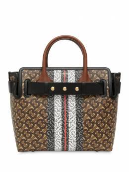 Burberry маленькая сумка-тоут с монограммой TB и контрастными полосками 8030710