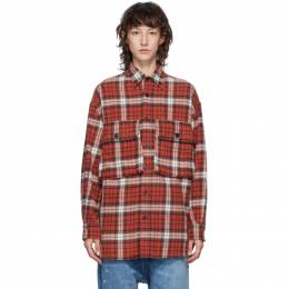 R13 Red Oversized Shirt R13M9036-42R