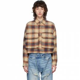 R13 Beige Oversized Cropped Shirt R13W7751-42E