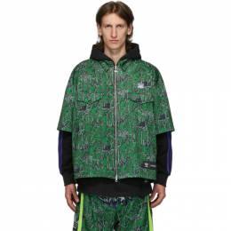 Sankuanz Reversible Black and Green adidas Originals Edition Shirt Hoodie FS8917