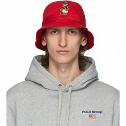 Polo Ralph Lauren Red Polo Bear Bucket Hat 710798509001