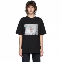 MSGM Black Logo Monkey T-Shirt 2943MDM77 207648