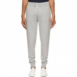 Maison Kitsune Grey Lotus Fox Jog Lounge Pants EU01328KM0002