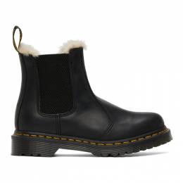 Dr. Martens Black Faux-Fur 2976 Lenore Boots R21045001