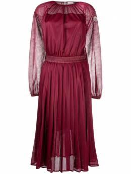 Moncler плиссированное платье миди с перфорацией F20932G70110C0547