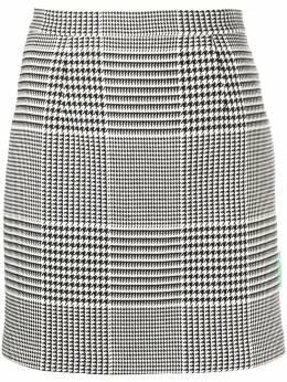 Off-White юбка в клетку Prince of Wales OWCC103E20FAB0031000