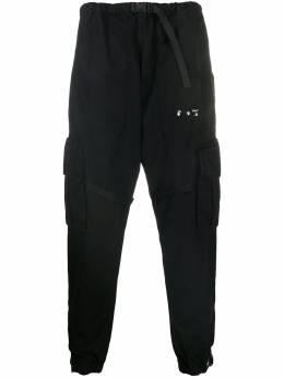 Off-White logo-print track pants OMCF004E20FAB0011001