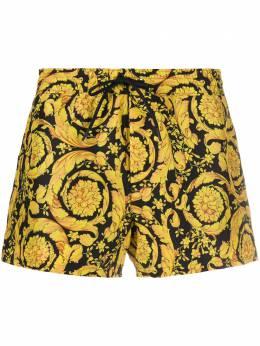 Versace плавки-шорты с принтом Barocco ABU05020A233170