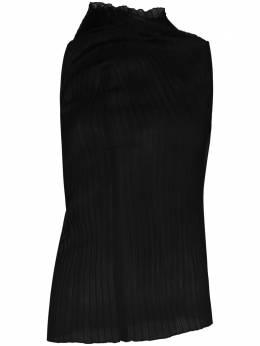 Jil Sander топ асимметричного кроя в рубчик JSPR707061WR457808