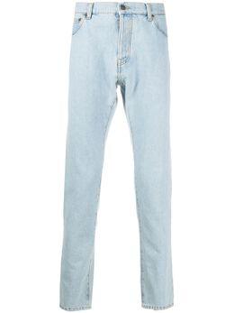 MSGM logo-patch slim-fit jeans 2840MB03207004