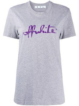 Off-White футболка с логотипом OWAA049E20JER0070535