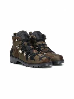Gallucci Kids камуфляжные ботинки J01511AM