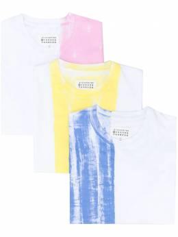 Maison Margiela комплект из трех футболок в стиле колор-блок S30GC0721S23788