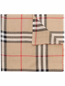 Burberry brown giant Vintage check silk wool scarf 8018468